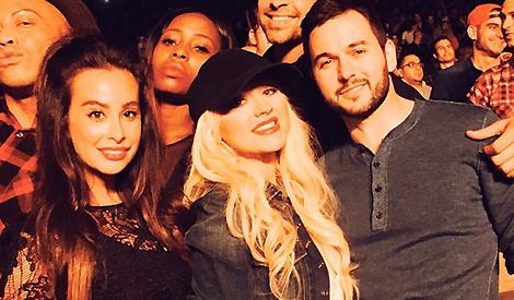 Christina com Matt e amigos