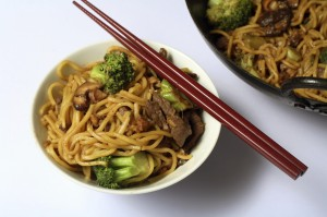 beef chow above