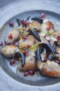 Paul Flynn's crab claws with pomegranate is a show stopper
