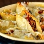 BAked-Sausage-and-Spinach-Shells