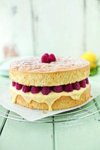 Neven Maguires Raspberry and Lemon Curd Sponge from The Nations Favourite Food Fast