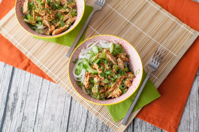 Bang Bang Chicken This super quick thai-inspired salad is perfect lunchbox fare, and is ready in under 15 minutes. Use leftover chicken from the Sunday roast and transform last night's dinner into something amazing.