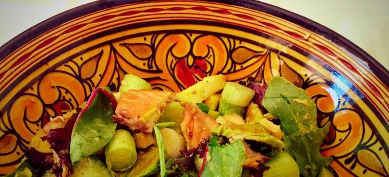 Detox recept: Makreelsalade met appel en avocado. De detox salade is prima als detox lunch, detox hoofdgerecht of detox bijgerecht. Snel klaar en super gezond.