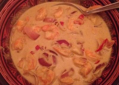 Detox recept: Thaise garnalen in kokoscurry saus | I Love Detox