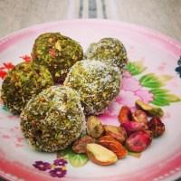 I Love Detox recept: Healthy snack: Matcha Pistache bonbons