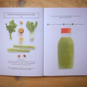 Groene sapjes boekreview met stomheid en groene sappen. Op en top Detox!