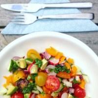 Detox zomer recept? Probeer deze frisse zomer detox salade eens. Wil je afvallen, zit je in een dieet of in een detox kuur? Deze gezonde makkelijke salade is heerlijk als lunch of avondmaaltijd. Meer info? Detoxcoach Nico van Rossum