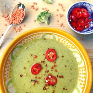 Detox soep met rode linzen en broccoli, makkelijk recept en zeer smaakvol!