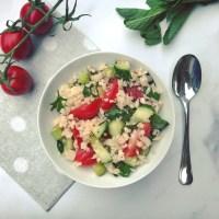 Libanese Tabouleh met bloemkoolrijst, koude detox salade