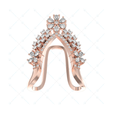 Crowning Charms Diamond Ring In Pink Gold For Women v2