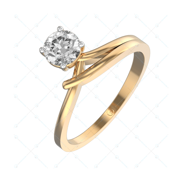 0.40 ct Zesty Zenith Solitaire Engagement Ring in Yellow Gold For Women v1