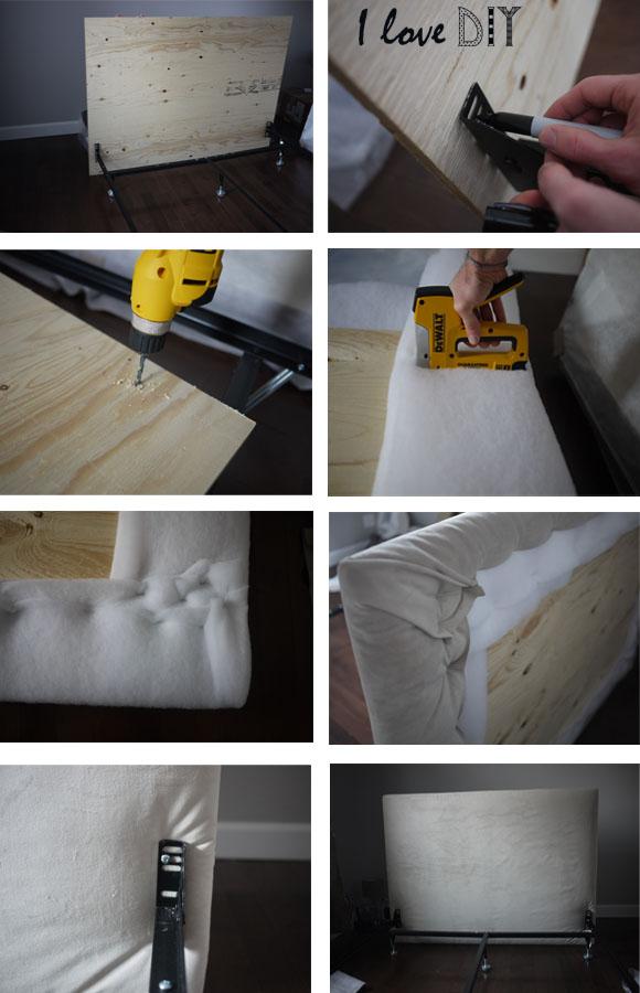 pour faire votre tete de lit maison il vous faut une planche de bois elle doit depasser un petit peu de chaque cote et au dessus du lit