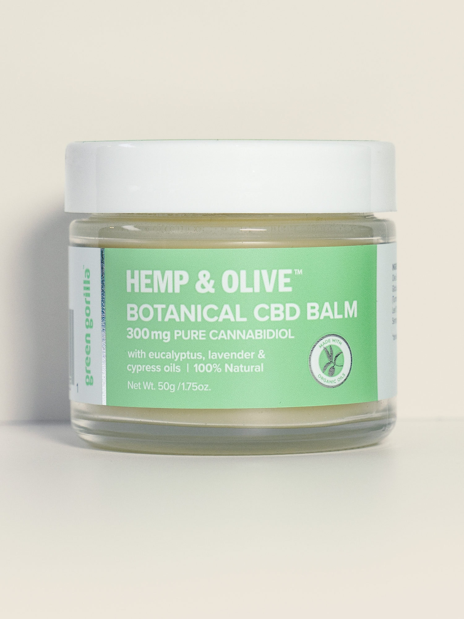 Hemp & Olive Botanical CBD Balm - 300mg | Green Gorilla