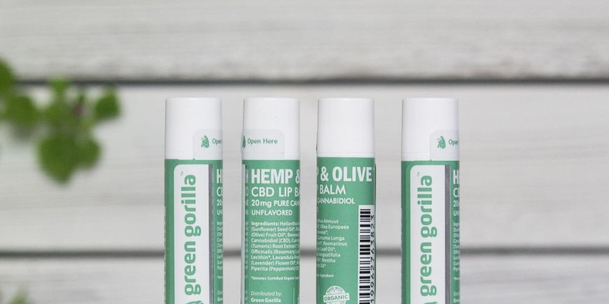 Green Gorilla Launches New Pure CBD Lip Balm Made With Certified Organic Ingredients