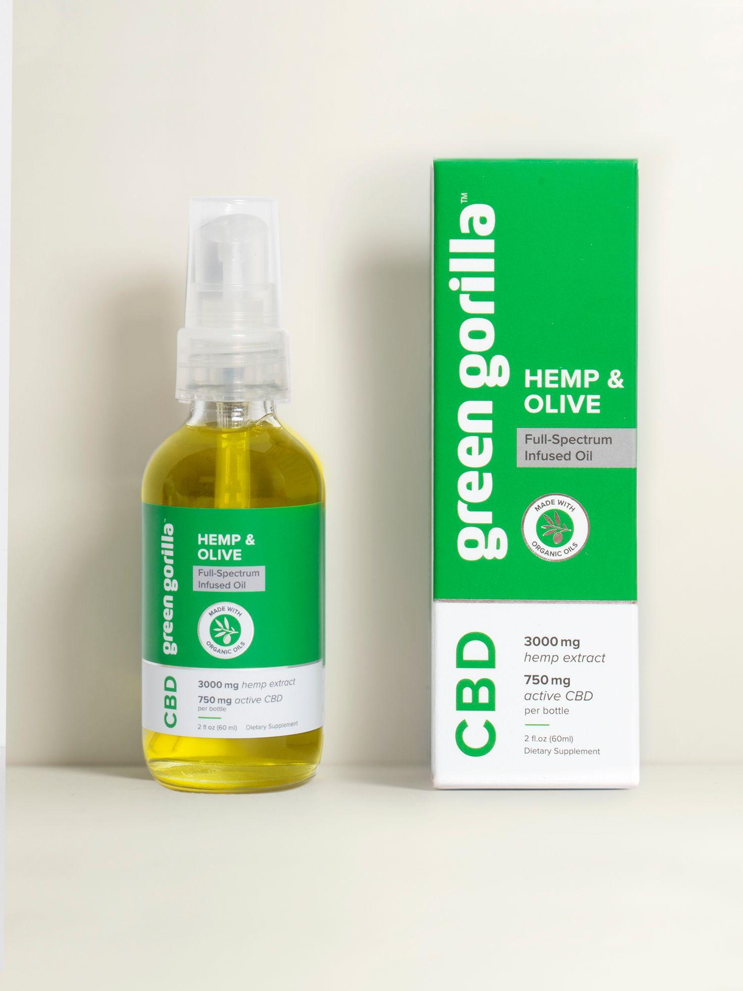 USDA Certified Organic Full Spectrum CBD Oil - 3000mg by Green Gorilla