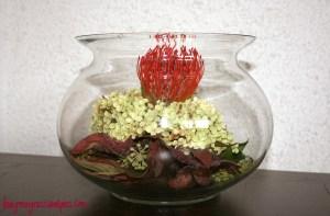 Autumn Flowerpiece Fish Bowl
