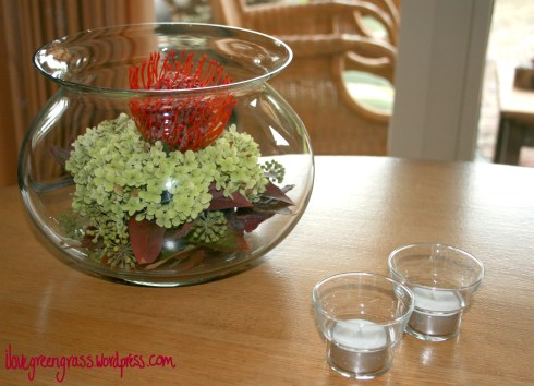 Autumn Flowerpiece Fish Bowl