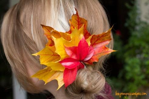 Autumn Hair Piece DIY