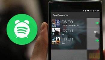 Como criar alarmes com as músicas do Spotify.