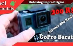 Unboxing Gopro Original de 200 reais ( Gopro hero chdha 301 )