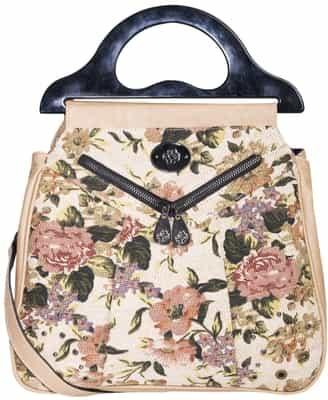 Mischa Barton Karla Knitting Grab Handbag, Tapestry £59