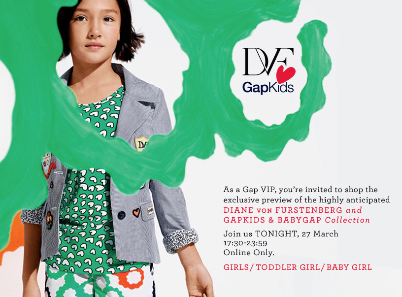 DVF GAP KIDS LAUNCHING - -CLICK TO VIEW
