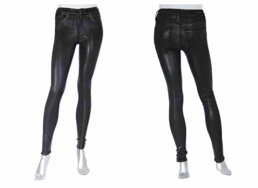 Shop Citizens of Humanity  Rocket skinny coated in Black £260.00