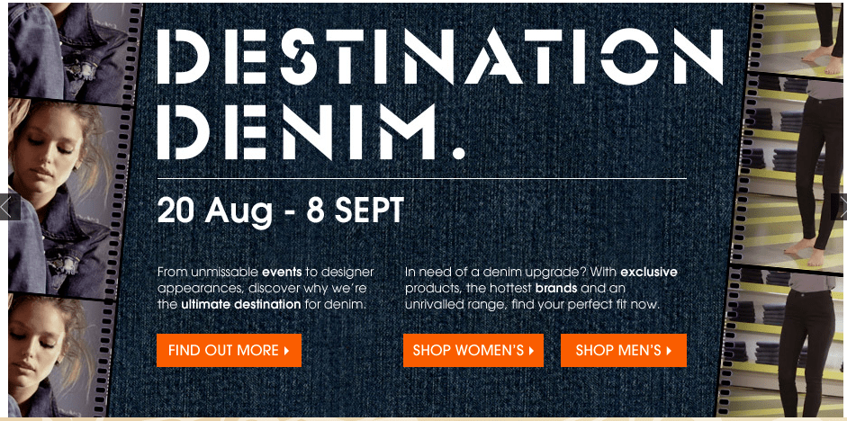 VISIT DESTINATION DENIM