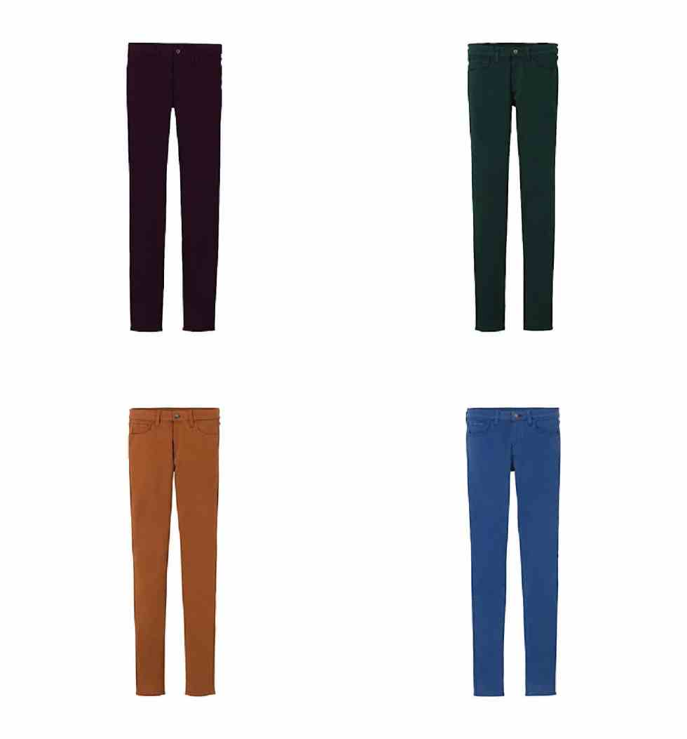 SHOP UNIQLO ULTRA STRETCH DENIM IN COLOUR