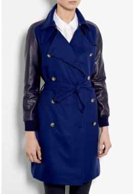 Sophie Hulme Leather Sleeve Wool Trench Coat £597.00