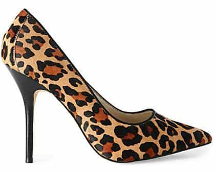 KAREN MILLEN Leopard-print courts