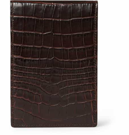 Crocodile-Embossed Leather Notepad £140