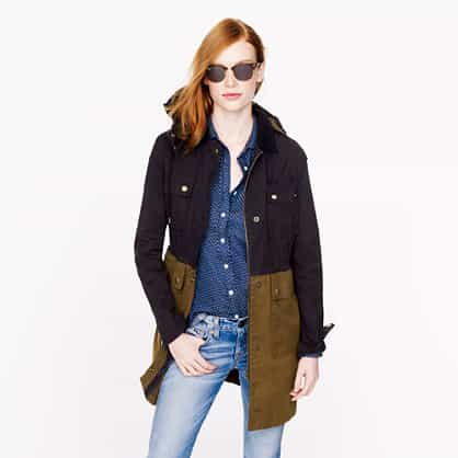 Relax Long colorblock field jacket item 02745 £198