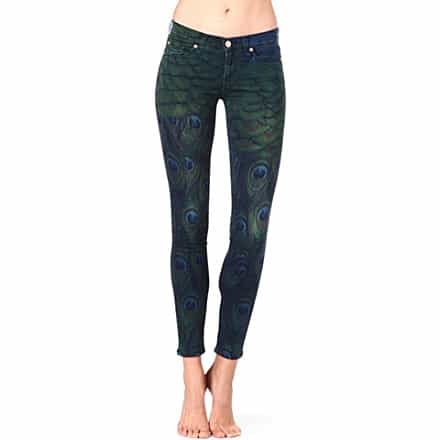 7 FOR ALL MANKIND Peacock-print skinny mid-rise jeans £310