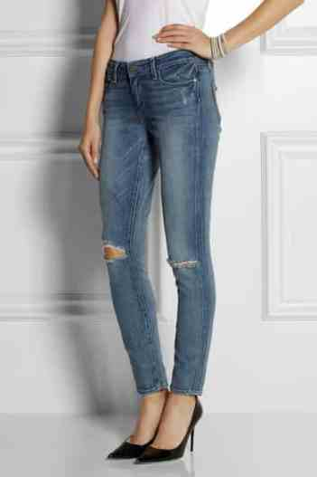Paige Verdugo distressed mid-rise skinny jeans £255