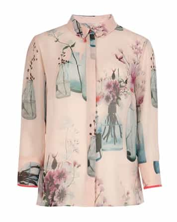 LEXEE - Water colour bottle print shirt - £99
