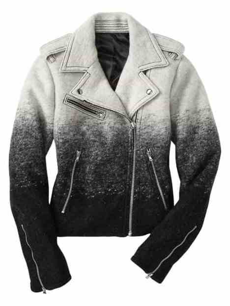 wool motor jacket, ombre jacket, Gap jackets