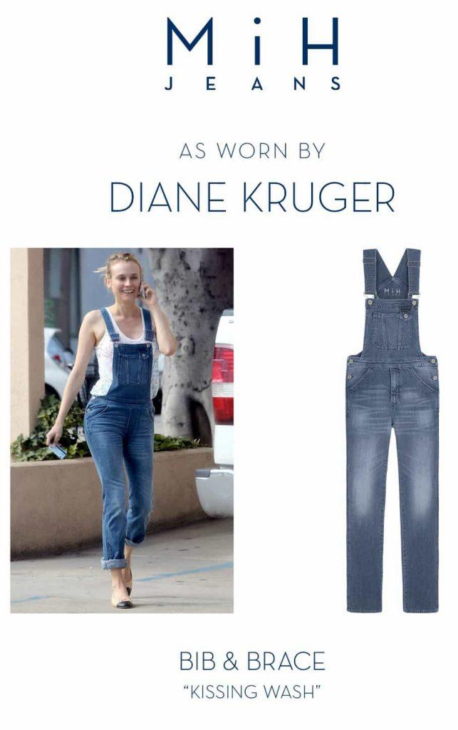 Mih Jeans, Bib & Brace dungarees, diane kruger