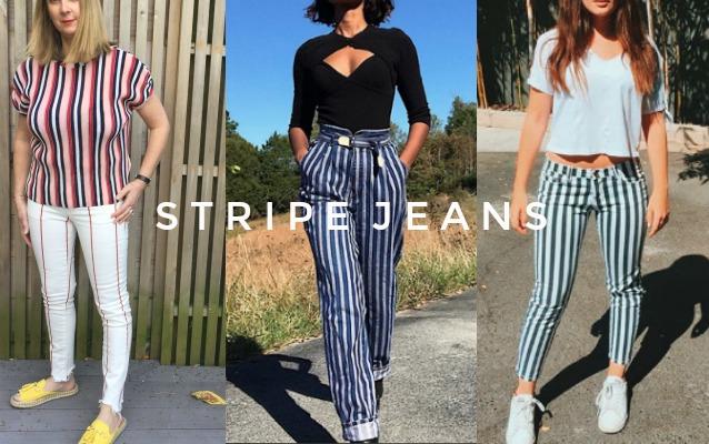 stripe jeans