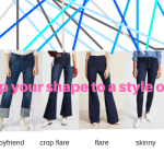 MATCH YOUR  BODY SHAPE TO YOUR JEAN STYLE