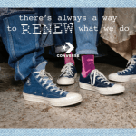 CONVERSE RENEW UPCYCLING OLD JEANS