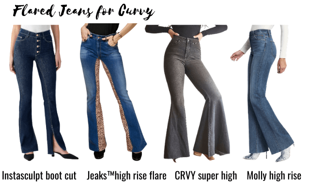 flare jeans for curvy