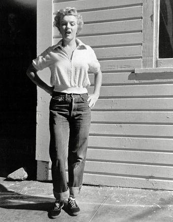 boyfriend jeans marilyn monroe