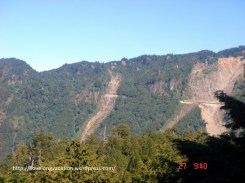Spotted across the Alishan National Park. It could be the railway track to take passengers up from Chiayi to Alishan.