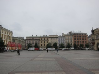The other side of the Main Market Square where the Town Hall Tower is