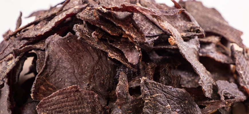 beef jerky close up