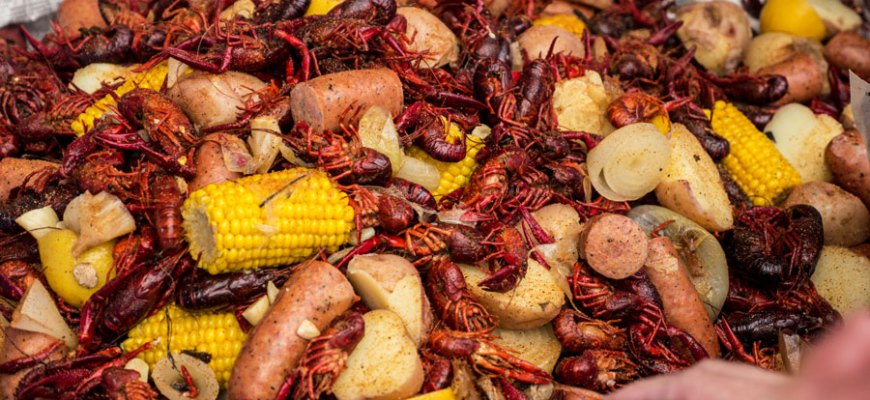 crawfish boil finished