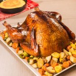 smoked turkey with roasted vegetables