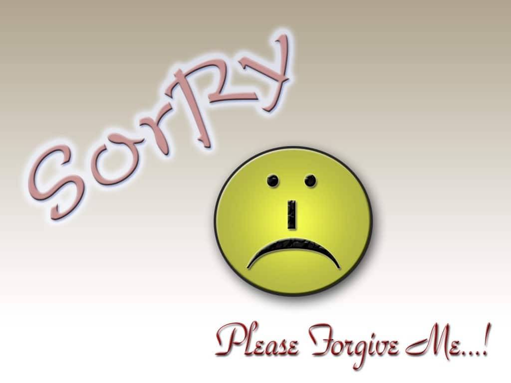 Sorry Please Forgive Me HD Wallpaper For Him