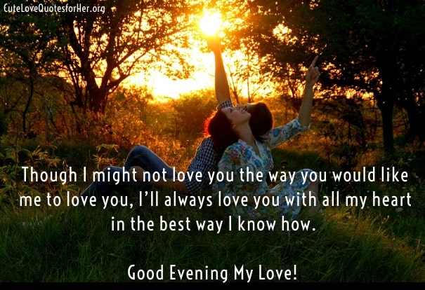 Good evening love sms quotes for girlfriend